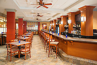 An inviting hotel bar at the DoubleTree by Hilton hotel in Milwaukee, WI.