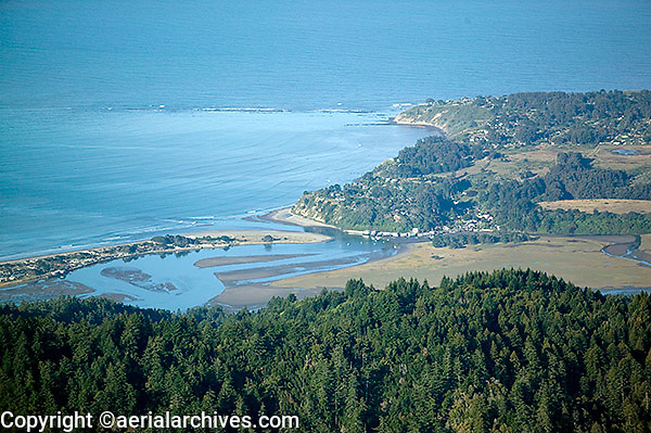 aerial photograph Bolinas, Marin County, California