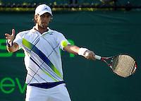 Fernando VERDASCO (ESP) against Juergen MELZER (AUT) in the third round of the men's singles. Fernando Verdasco beat Jurgen Melzer 3-6 7-6 6-1..International Tennis - 2010 ATP World Tour - Sony Ericsson Open - Crandon Park Tennis Center - Key Biscayne - Miami - Florida - USA - Mon 29th Mar 2010..© Frey - Amn Images, Level 1, Barry House, 20-22 Worple Road, London, SW19 4DH, UK .Tel - +44 20 8947 0100.Fax -+44 20 8947 0117