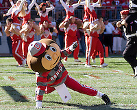 07 October 2006: Ohio State mascot Brutus Buckeye..The Ohio State Buckeyes defeated the Bowling Green Falcons 35-7 on October 7, 2006 at Ohio Stadium, Columbus, Ohio.