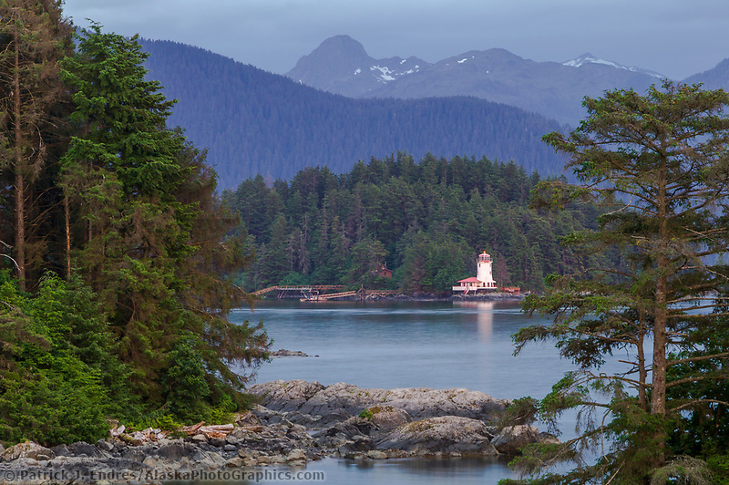 Rockwell Lighthouse is located on Rockwell Island in the Sitka Sound, AK. It was built in 1977 and still operates as a Bed and Breakfast inn.