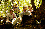 Dr. Riley Nelson and his students conduct a study on the insects of the Timpanoogas Mountain and its streams...June 20, 2005.0506-11 ..Photo by Steve Walter/BYU