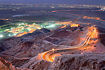 Sunset at Jebel Hafeet mountain in Al Ain, United Arab Emirates