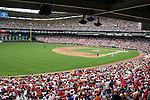 A Memorial Day crowd of nearly 40,000 fans watches the game on Monday, May 30, 2005. The Washington Nationals defeated the Atlanta Braves 3-2 at RFK Stadium in Washington, DC.