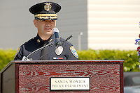 Santa Monica Police Deputy Chief Phillip L. Sanches speacks during the Police/Fire Public Safety Memorial at City Hall on Thursday, May 13, 2010. The memorial recognized public safety officers who gave their lives in the line of duty to protect the citizens of Santa Monica...