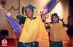 WATERBURY, CT 12/20/98--1220DC07.tif  Janay Sylvister (C) of Waterbury performs a welcome dance as part of the second annual Kwanzaa performance held 20 December at the New Opportunities for Waterbury organization in downtown Waterbury.  -DOUG COLLIER staff photo (Filed in Scans/Scan-In)