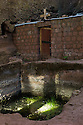 23/01/12. Lalibela, Ethiopia. Views from within the first set of rock-hewn churches, Lalibela. Pool where infertile women were immersed to 'cure' their condition. Photo credit: Jane Hobson.