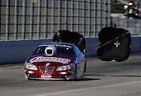 Nov 11, 2010; Pomona, CA, USA; NHRA pro stock driver Greg Anderson during qualifying for the Auto Club Finals at Auto Club Raceway at Pomona. Mandatory Credit: Mark J. Rebilas-