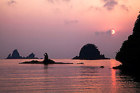 Sunset, Izu Peninsula, Nishiizu, Kamo District, Shizuoka Prefecture,<br />