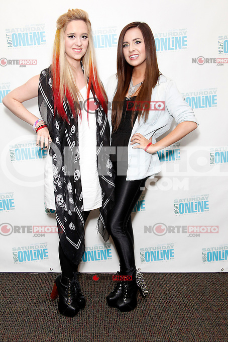 Megan &amp; Liz visit Saturday Night Online's iHeart Radio Performance Theater in Bala Cynwyd, Pa on August 25, 2012  &copy; Star Shooter / MediaPunchInc /NortePhoto.com<br />