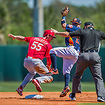 4 March 2016: St. Louis Cardinals outfielder Stephen Piscotty is safe at second during a Spring Training pre-season game against the Houston Astros at Osceola County Stadium in Kissimmee, Florida. The Cardinals fell to the Astros 6-3 in Grapefruit League play. Mandatory Credit: Ed Wolfstein Photo *** RAW (NEF) Image File Available ***