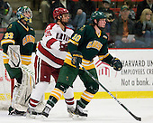 Paul Karpowich (Clarkson - 33), Marshall Everson (Harvard - 21), Kevin Tansey (Clarkson - 10) - The Harvard University Crimson defeated the visiting Clarkson University Golden Knights 3-2 on Harvard's senior night on Saturday, February 25, 2012, at Bright Hockey Center in Cambridge, Massachusetts.