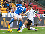 St Johnstone v Falkirk&hellip;23.07.16  McDiarmid Park, Perth. Betfred Cup<br />Joe Shaughnessy and John Rankin<br />Picture by Graeme Hart.<br />Copyright Perthshire Picture Agency<br />Tel: 01738 623350  Mobile: 07990 594431