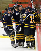 Zach Davies (Quinnipiac - 3), Russell Goodman (Quinnipiac - 11), Zack Currie (Quinnipiac - 23) - The visiting Quinnipiac University Bobcats defeated the Harvard University Crimson 3-1 on Wednesday, December 8, 2010, at Bright Hockey Center in Cambridge, Massachusetts.