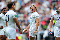Tommy Taylor of England looks on during a break in play. Old Mutual Wealth Cup International match between England and Wales on May 29, 2016 at Twickenham Stadium in London, England. Photo by: Patrick Khachfe / Onside Images