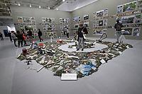 Athens, Greece. Opening days of documenta14.<br /> Athens School of Fine Arts (ASFA), &ldquo;Nikos Kessanlis&rdquo; Exhibition Venue.<br /> Bonita Ely, Plastikus Progressus: Memento Mori (2017)