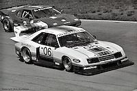 Bobby Rahal drives the Ford Mustang Turbo entered by Team Zakspeed Roush in the 1983 IMSA race at Road Atlanta, Braselton, Georgia, USA.