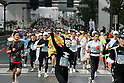 Feb. 28, 2010 - Tokyo, Japan - A marathon runner in costume takes part of the Tokyo marathon 2010 on February 28, 2010 . Despite the cold and rain, more than 30,000 athletes participated in the fourth running of the event. (Photo Laurent Benchana/Nippon News)
