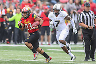 College Park, MD - October 1, 2016: Maryland Terrapins running back Lorenzo Harrison (23) runs for a touchdown during game between Purdue and Maryland at  Capital One Field at Maryland Stadium in College Park, MD.  (Photo by Elliott Brown/Media Images International)