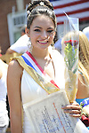 Miss Wantagh Pageant ceremony, a long-time Independence Day tradition on Long Island, is Wednesday, July 4, 2012, at Wantagh School, New York, USA. Shown is Paulina Renda, 2nd Runner Up. Since 1956, the Miss Wantagh Pageant, which is not a beauty pageant, has crowned a high school student based mainly on academic excellence and community service.