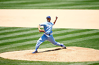4 May 2011: Starting pitcher #29 Ted Lilly allowed three home runs in six innings. Ted threw 84 pitches and had 62 strikes.   The Cubs defeated the Dodgers 5-1 during a Major League Baseball game at Dodger Stadium in Los Angeles, California.  Dodgers players are wearing Brooklyn Dodger 1940's throwback jersey uniforms and the Chicago Cubs are also wearing throwback retro jersey uniforms. **Editorial Use Only**