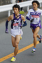 (L to R) Hiroki Oe (Meiji-Univ), Shota Inoue (Komazawa-Univ), JANUARY 2, 2012 - Athletics : The 88th Hakone Ekiden Race 5th Section in Kanagawa, Japan. (Photo by Yusuke Nakanishi/AFLO SPORT) [1090]