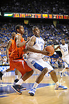 UK's Terrence Jones posting up during the University of Kentucky Men's basketball game against Auburn at Rupp Arena in Lexington, Ky., on 1/11/11. Uk won the game 78-54. Photo by Mike Weaver   Staff