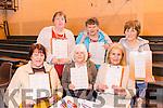 Enjoying the Mercy Mounthawk Secondary School Bingo Fundraiser on Sunday were front l-r Mary Egan, Elizabeth Heaphy, Marie Thompson, Back l-r Sarah Galvin, Kay Dillon, Debrah Lee