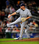 21 August 2009: Milwaukee Brewers' pitcher Todd Coffey on the mound in relief against the Washington Nationals, at Nationals Park in Washington, DC. The Brewers defeated the Nationals 7-3 in the first game of their four-game series. Mandatory Credit: Ed Wolfstein Photo