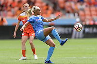 Houston, TX - The Houston Dash defeated the Chicago Red Stars 2-0 on Saturday April 15, 2017: Samantha Johnson during a regular season National Women's Soccer League (NWSL) match at BBVA Compass Stadium.