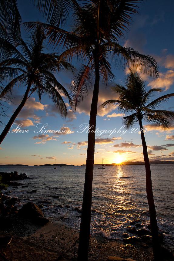 Sunset from Gallows Point resort<br /> St. John<br /> U.S. Virgin Islands