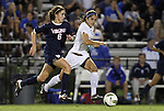 29 September 2011: Duke's Callie Simpkins (6) is chased by Duke's Gilda Doria (right). The Duke University Blue Devils and the University of Virginia Cavaliers played to a 0-0 tie after overtime at Koskinen Stadium in Durham, North Carolina in an NCAA Division I Women's Soccer game.