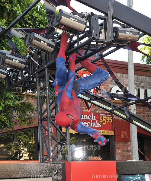 "Spider-Man at the world premiere of ""The Amazing Spider-Man"" at Regency Village Theatre, Westwood..June 29, 2012  Los Angeles, CA.Picture: Paul Smith / Featureflash"