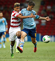 USA U20's DeAndre Yedlin (L) and Spain U20's Suso (R) during their FIFA U-20 World Cup Turkey 2013 Group Stage Group A soccer match USA U20 betwen Spain at the Kadir Has stadium in Kayseri on June 21, 2013. Photo by Aykut Akici/isiphotos.com