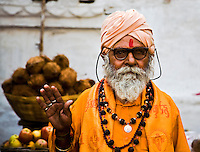 A friendly religious man greets me in Udaipur. (Photo by Matt Considine - Images of Asia Collection)