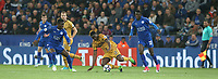 Tottenham Hotspur's Victor Wanyama watched by Leicester City's Daniel Amartey (left) and Wilfred Ndidi (right)<br /> <br /> Photographer Stephen White/CameraSport<br /> <br /> The Premier League - Leicester City v Tottenham Hotspur - Thursday 18th May 2017 - King Power Stadium - Leicester <br /> <br /> World Copyright &copy; 2017 CameraSport. All rights reserved. 43 Linden Ave. Countesthorpe. Leicester. England. LE8 5PG - Tel: +44 (0) 116 277 4147 - admin@camerasport.com - www.camerasport.com