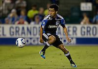 Rafael Baca of Earthquakes in action during the game against Kansas City at Buck Shaw Stadium in Santa Clara. California on October 1st, 2011.  San Jose Earthquakes tied Sporting Kansas City, 1-1.