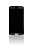 Samsung Galaxy Note III smartphone with blank screen isolated photo on white background with clipping path