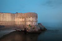 The Bokar Fortress or Zvjezdan Fortress, 15th century, facing the Adriatic Sea and protecting the South West of the city, Dubrovnik, Croatia. The city developed as an important port in the 15th and 16th centuries and has had a multicultural history, allied to the Romans, Ostrogoths, Byzantines, Ancona, Hungary and the Ottomans. In 1979 the city was listed as a UNESCO World Heritage Site. Picture by Manuel Cohen