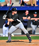 8 March 2010: Florida Marlins' catcher Vinny Rottino in action during a Spring Training game against the Washington Nationals at Space Coast Stadium in Viera, Florida. The Marlins defeated the Nationals 12-2 in Grapefruit League action. Mandatory Credit: Ed Wolfstein Photo