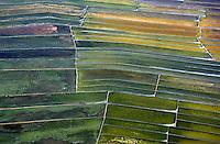 Aerial of farming area north of Manila, Philippines