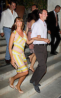 Prince Joachim, and Princess Marie of Denmark, attend a Cocktail Party at The Poseidonion Hotel, in Spetses, Greece, on the eve of the Wedding of Prince Nikolaos of Greece to Tatiana Blatnik.