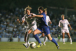 13 October 2011: North Carolina's Megan Brigman (3) and Duke's Chelsea Canepa (22). The University of North Carolina Tar Heels defeated the Duke University Blue Devils 1-0 at Fetzer Field in Chapel Hill, North Carolina in an NCAA Division I Women's Soccer game.