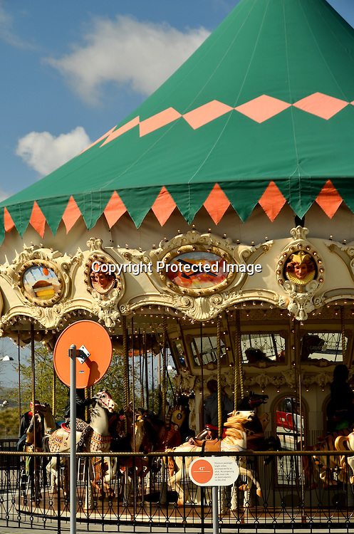 Stock photo of carousel