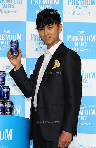 "Shota Matsuda, Feb 25, 2016 : Japanese actor Shota Matsuda attends Suntory ""The Premium Malt's : Kaoru Premium"" launch event in Tokyo, Japan on February 25, 2016. (Photo by AFLO)"