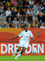Perpetua Nkwocha of team Nigeria during the FIFA Women's World Cup at the FIFA Stadium in Dresden, Germany on July 5th, 2011.