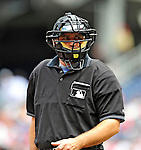 5 July 2009: Home Plate Umpire Tony Randazzo calls balls and strikes during a game between the Atlanta Braves and the Washington Nationals at Nationals Park in Washington, DC. The Nationals defeated the Braves 5-3, to take the rubber game of their 3-game weekend series. Mandatory Credit: Ed Wolfstein Photo