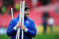 High Performance Manager Allan Ryan looks on during the pre-match warm-up. Aviva Premiership match, between Gloucester Rugby and Bath Rugby on March 26, 2016 at Kingsholm Stadium in Gloucester, England. Photo by: Patrick Khachfe / Onside Images