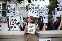 "25.09.2014 - ""Emergency protest: Don't bomb Iraq. Don't bomb Syria"""
