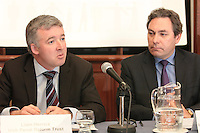 NO REPRO FEE. 20/5/2011. Irish Council for Civil Liberties- Tell UN of Irelands failure to combat inhuman and degrading treatment. Pictured at a press Briefing in Buswells Hotel, Dublin are L-R  Liam Herrick, Irish Penal Reform Trust and  Mark Kelly, Director, Irish Council for Civil Liberties.  Picture James Horan/Collins Photos